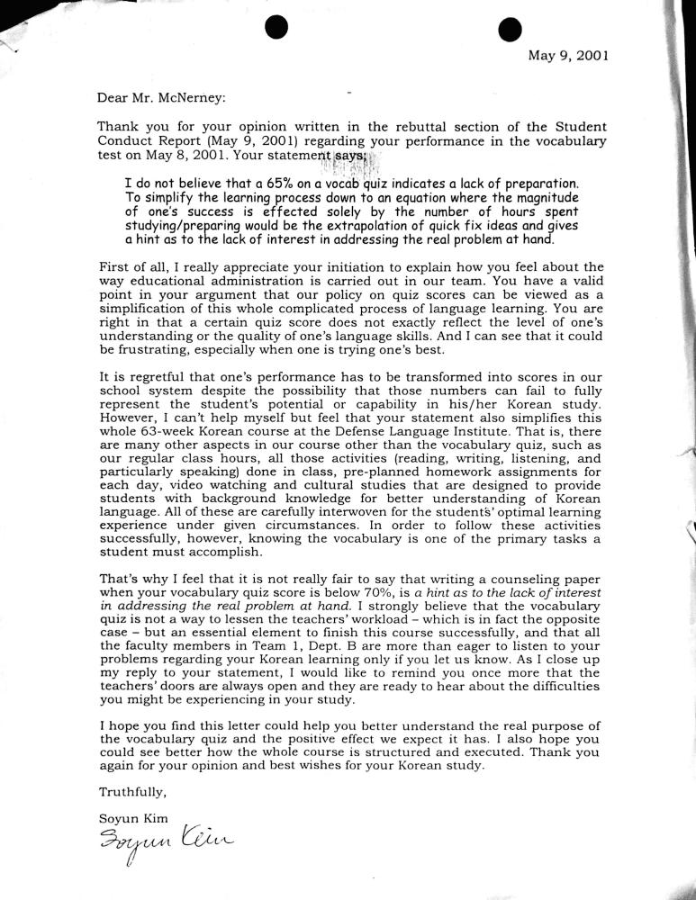 050901 teacher response to 1st rebuttal